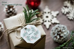 Christmas Wreath SVG graphic, Christmas ornament SVG file Product Image 5