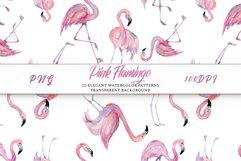 Pink Flamingo Seamless Patterns Product Image 5