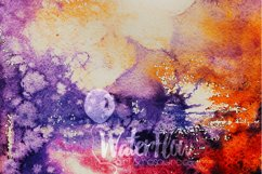 3 Autumn Halloween Digital Papers Watercolor Fall Textures Product Image 4