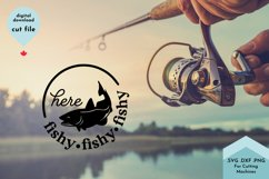 Fishing Mug SVG, Here Fishy, Funny camping Product Image 3