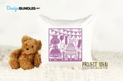 Happy Birthday princess paper cut design Product Image 6