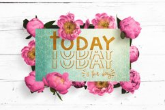 Inspirational SVG | Today Is The Day | motivational cut file Product Image 6