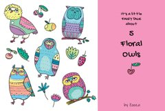 Floral Owls - 55 objects Product Image 3
