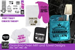 Grandma Oven Mitts & Towel Designs - Family SVG Files Product Image 2
