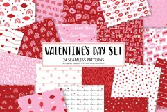 Valentines Day seamless patterns Product Image 1