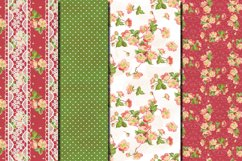 Shabby chic pink roses seamless patterns Product Image 3