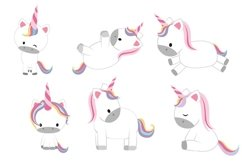 Cute Unicorn Clipart, Baby Unicorn Product Image 1