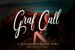 Graf Call New Stylish Script Font Product Image 1