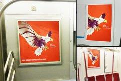 Subway Train Poster Mockup Templates Product Image 1