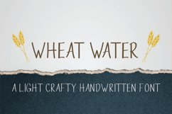 Wheat Water - A Crafty Thin Handwritten Font Product Image 1