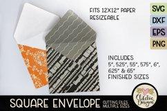 Square Envelope SVG - Square Envelope SVG Cutting File Product Image 1