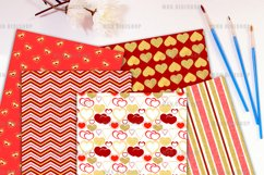 Gold Valentine Digital Paper Pack Product Image 2