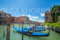 Several gondolas on the Grand Canal, Venice Product Image 1