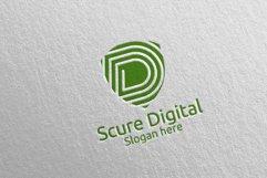 Secure Digital Letter D Digital Marketing Logo 78 Product Image 3