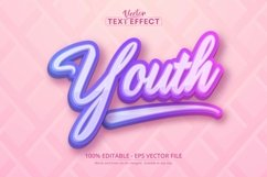 Youth text, multicolor gradient style editable text effect Product Image 1