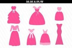 Princess/ Wedding/ Dress svg dxf Product Image 1
