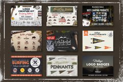 Adventure SVG Mega Bundle, Logo Creator Kit, Camping DXF Set Product Image 1