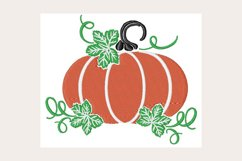 Fall Pumpkin - Machine Embroidery Design Product Image 1