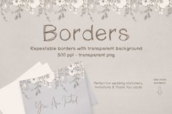 Sketchy Floral Wreaths & Borders Product Image 3