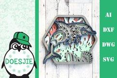 Dolphin SVG layered multi layer mandala sea animal nautical Product Image 1
