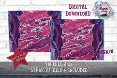 15oz  Sublimation  Pink Glitter Vein  Skinny tumbler Design Product Image 2