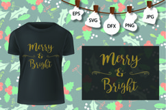 Merry and Bright Svg, Merry Christmas SVG, Christmas SVG Product Image 1