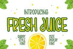 Fresh Juice - Cute Display Font Product Image 1