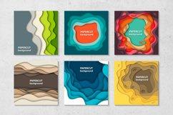 Bundle of 100 paper cut backgrounds Product Image 4
