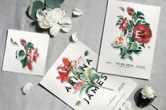 Modern Vintage Floral Wedding Invitation Suite Product Image 1