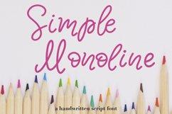 Simple Monoline A Handwritten Font Product Image 1