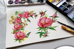 Peony and Gold leaf Product Image 5