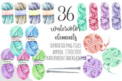 Knitting Watercolor Clip art Product Image 5