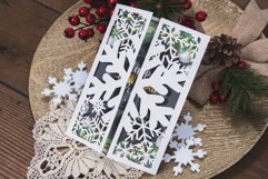 White Christmas Snowflake Invitation cutting file Product Image 2