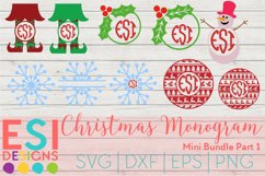 Christmas Monogram Design Mini Bundle Part 1 SVG DXF EPS PNG Product Image 1