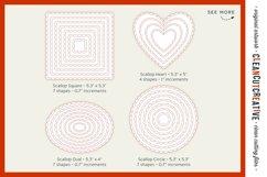 Stitched Nesting Shapes SVG | card making sketch foil paper Product Image 6