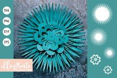 Paper Flower Template Bundle | Paper Cutting Bundle SVG Product Image 5