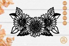 Sunflower bouquet SVG, Sunflower arrangement cut file Product Image 1