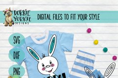 Hand-Drawn - BUNDLE - Boy, Girl Bunny, Happy Easter - SVG Cu Product Image 4
