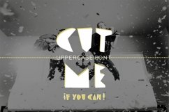 CUT ME if you can Uppercase fun font Product Image 1