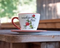 Design with buds, leaves and fruits of rose hip. Product Image 4