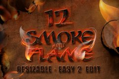 12 Smoke and Flame Effects Product Image 1