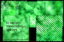 Lustrous Green Foil Backgrounds - 12 Image Textures Set Product Image 2