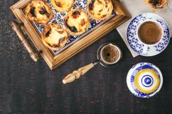 Pastel de Nata served with coffee Product Image 1