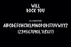 WILL ROCK YOU - Display Font Product Image 5
