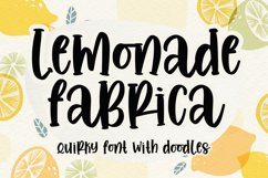 Lemonade fabrica -quirky with doodles- Product Image 1