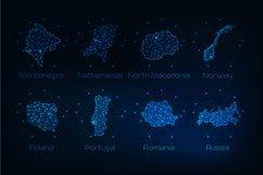 Europe countries futuristic maps. Product Image 8