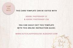 PSD Wedding Menu & Place Card Template - #1 Product Image 5
