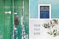 Summer stock photos Lisbon green tiles texture plants Product Image 4
