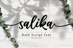 Salika // Bold Script Font Product Image 1