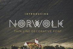 Norwolk - Thin Line Decorative Font Product Image 1